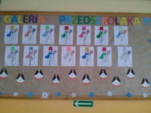 Zimowe prace przedszkolaków