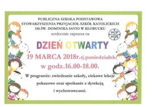 Dzień Otwarty w PSP SPSK im. św. Dominika Savio w Kłobucku