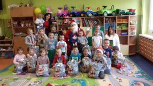 Mikołaj z wizytą w przedszkolu