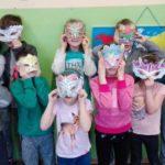Maski karnawałowe na świetlicy